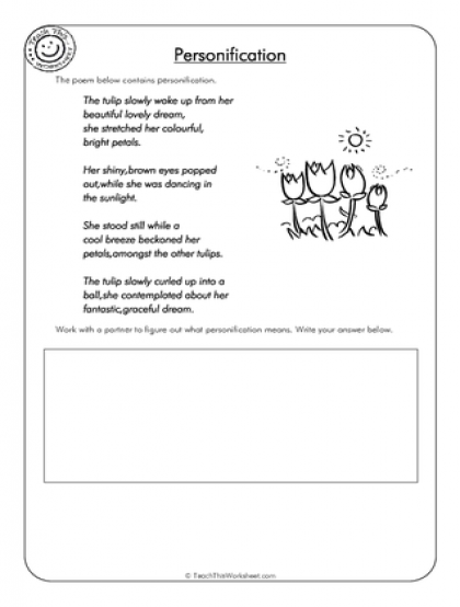 Personification Worksheets - Sharebrowse